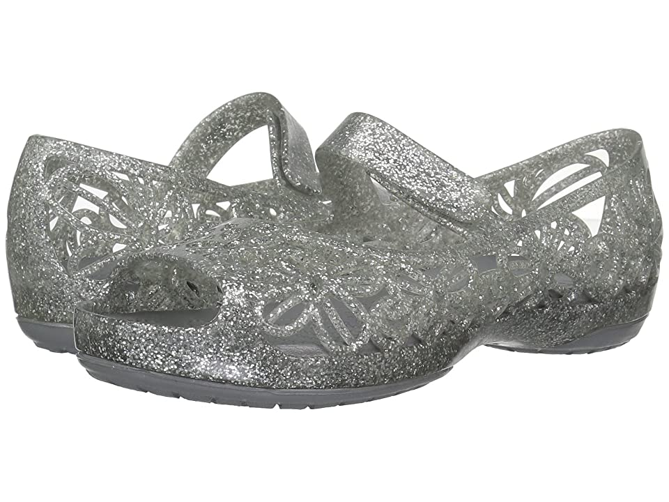 Crocs Kids Isabella Glitter Jelly Flat PS (Toddler/Little Kid) (Silver) Girls Shoes