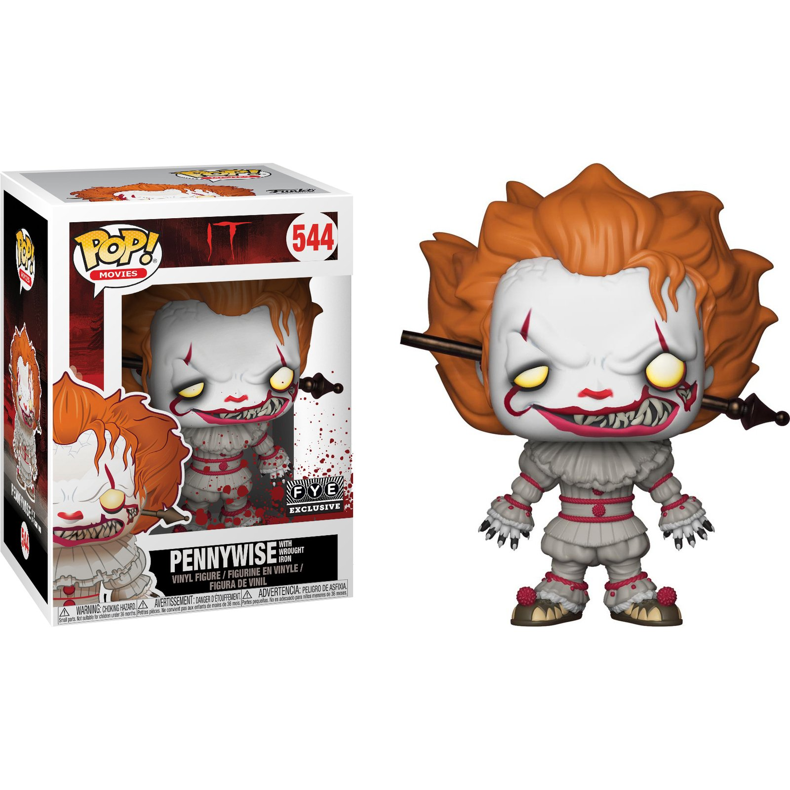 Pennywise with Wrought Iron Collectible Figure Funko Pop Movies Multicolor 29528