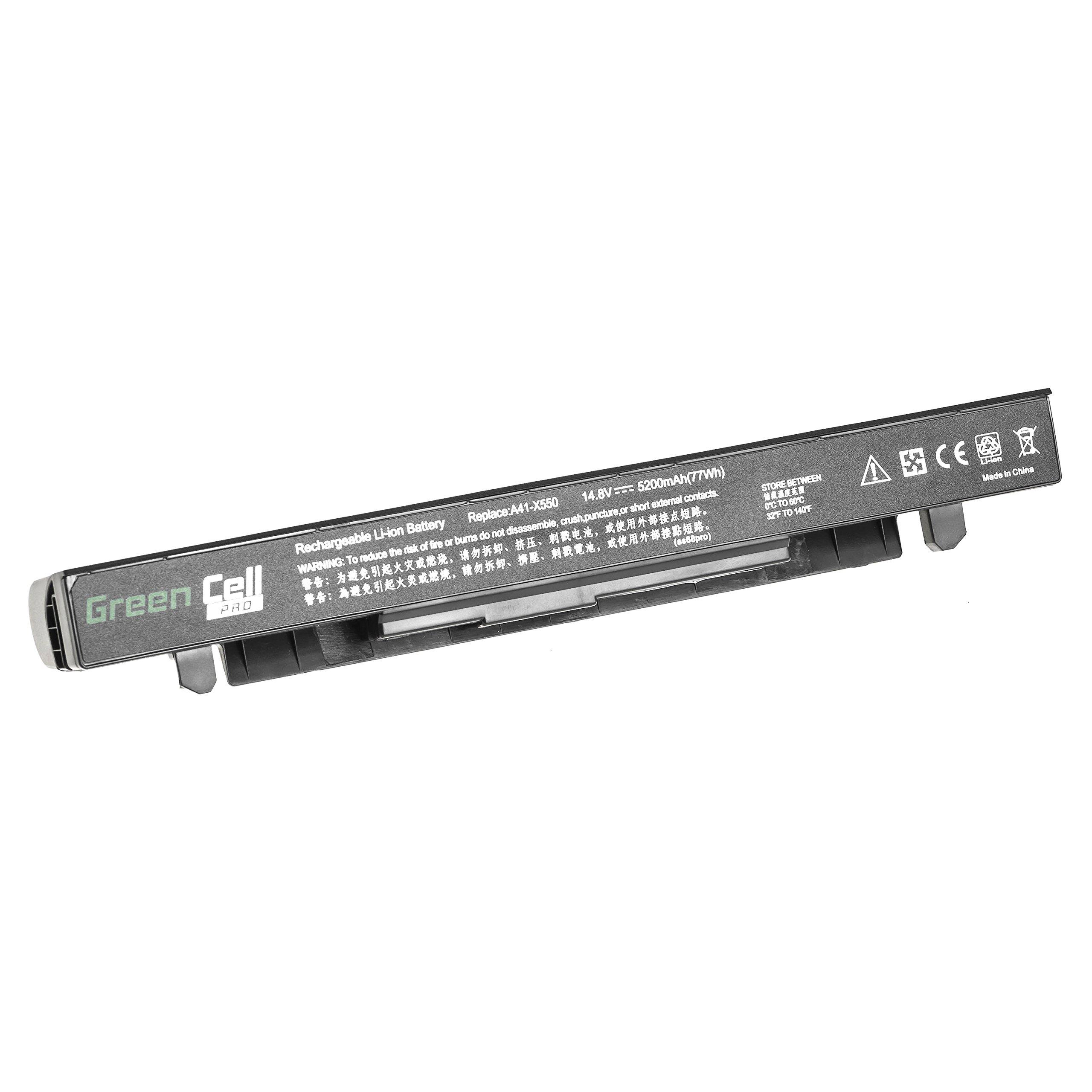 Green Cell PRO Extended Serie A41-X550A Batería para ASUS X550 X550C X550CA X550CC X550CL X550E X550L X550LN X550V X550VB X550VC X550VL Ordenador (Las Celdas Originales Samsung SDI, 5200mAh): Amazon.es: Electrónica