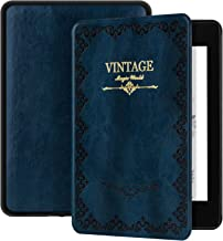 Ayotu Magic Book Series Case for Kindle Paperwhite 2018 - PU Leather Smart Cover with Auto Wake/Sleep - Fits Amazon The Latest Kindle Paperwhite Leather Cover (10th Generation-2018),K10 Retro Blue