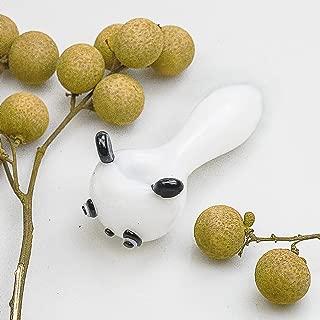 4-inch Portable Glass Art Tube, Craft Pipes, Panda Shape Series