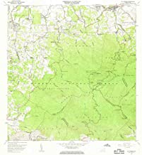 YellowMaps El Yunque PR topo map, 1:20000 Scale, 7.5 X 7.5 Minute, Historical, 1967, Updated 1969, 31.9 x 28.8 in