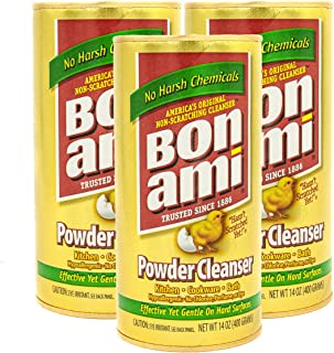 Bon Ami Powder Cleanser (14 oz, 3 Pack) Works as A Kitchen Countertop Cleaner and Bathroom Tile Cleaner, No Scratch Earth ...