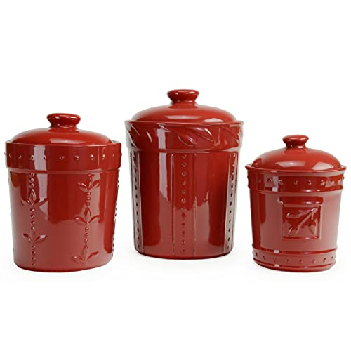 Red Kitchen Canisters: Amazon.com