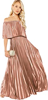 Women's Casual Off The Shoulder Layered Ruffle Party...