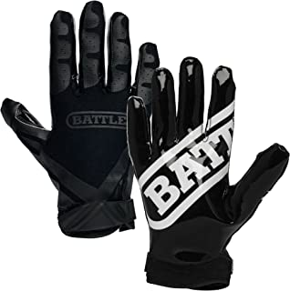 Battle Double Threat Football Gloves – Ultra-Tack Sticky Palm Receivers Gloves –..