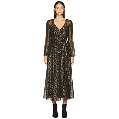 RED VALENTINO Silk Lame Fil Coupe Dress (Black) Women