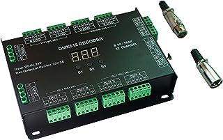 Controlador decodificador de 32 canales, 96 A RGBW DMX 512 LED, regulador DMX DC5-24 V RGBW RGB LED Light 8 Bit/16 bits