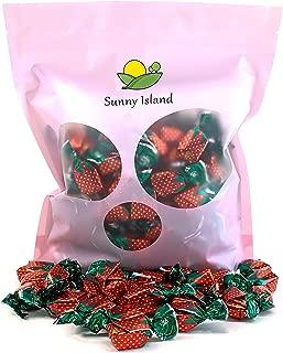 Sunny Island Bulk - Arcor Strawberry Filled Hard Candy, Bon Bons Bulk Candy, 2 Pounds Bag