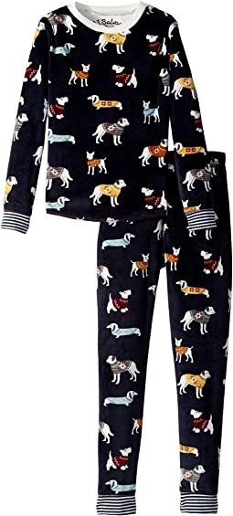 P.J. Salvage Kids - Sweater Dogs Fleece Jammie Set (Toddler/Little Kids/Big Kids)