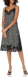 فستان Rebecca Taylor بدون أكمام للنساء مطبوع عليه زهور بدون أكمام