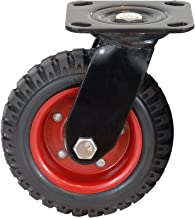 Swivel Rubber Furniture Industrial Castor for Workbench Machine Trolley Flatbed Carts Single Wheel Load 209 Pounds Size Name:4in Color : Standard, Size : 4in