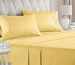 طقم ملاءات بحجم كينغ من 4 قطع - اغطية سرير فاخرة للفنادق - جيوب عميقة - ذات مقاس مثالي - جيدة التهوية وتمنح شعوراً بالبرود...