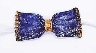 Papillon in Ceramica Linea Monocromo Pezzo Unico Handmade Le Ceramiche del Castello Made in Italy Dimensioni:10,5 x 5 cent...
