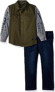 Diesel 男宝宝运动衬衫和裤子套装