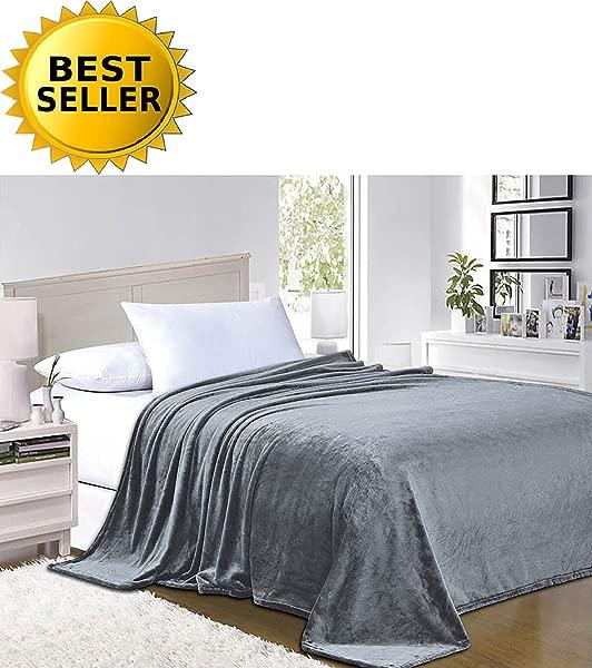 Elegant Comfort 1 Fleece Blanket On Amazon Super Silky Soft Sale All Season Super Plush Luxury Fleece Blanket King Cal King Gray