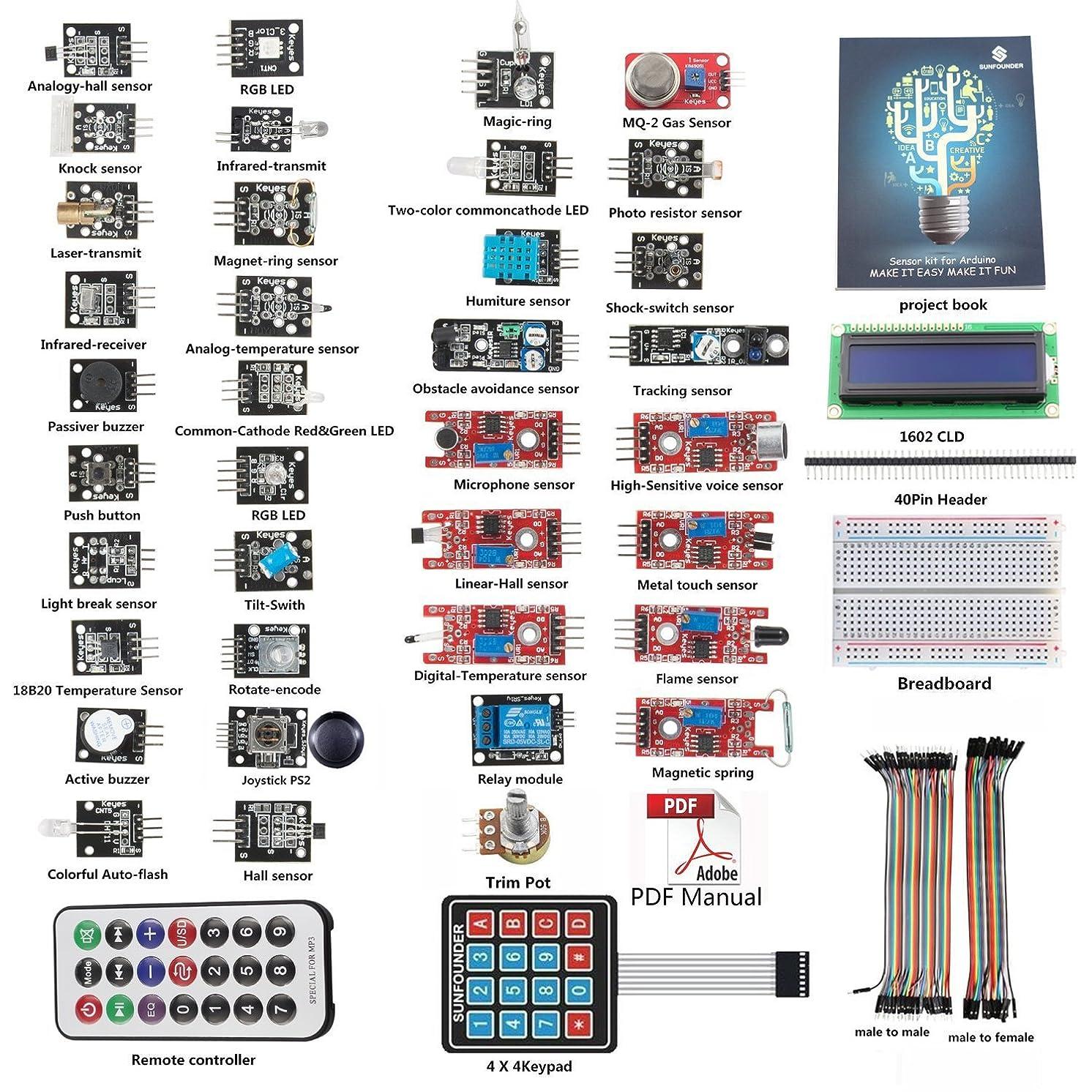 SunFounder Ultimate Sensor Kit for Arduino (SensorV1)