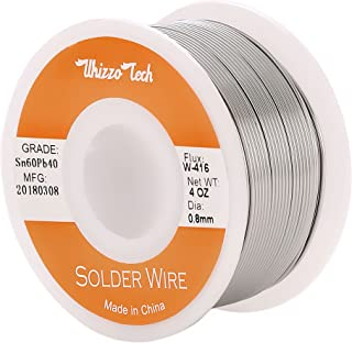 Whizzotech Solder Wire 60/40 Tin/Lead Sn60Pb40 with Flux Rosin Core for Electrical