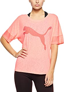 PUMA Women's Loose Fluo Peach Active Tee