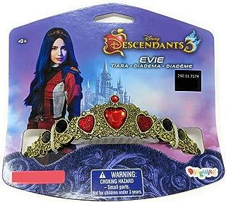 Disney Descendants 3 Evie Tiara Crown Dress Up Halloween Costume Accessory Gold, Red