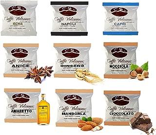 Caffè Vulcanus - Kit assaggio 150 cialde ESE44 con caffè aromatizzati - Degustazione caffè miscela Napoli, Ischia, Capri e caffè aromatizzati