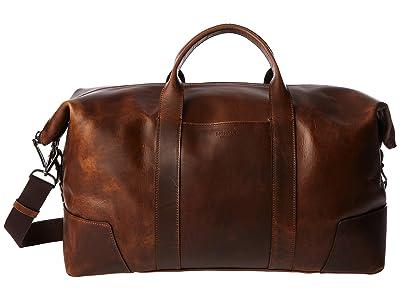 Shinola Detroit Large Carryall Navigator (Medium Brown) Handbags