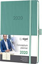 SIGEL C2070 Agenda semanal 2020 Conceptum, tapa dura, 14,8 x 21,3 cm, verde oscuro