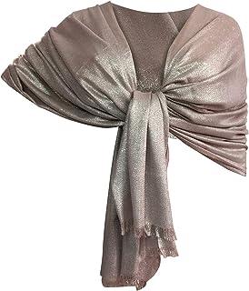taglia 40 1e7e9 12182 Amazon.it: coprispalle donna elegante - Rosa / Sciarpe e ...