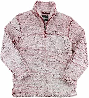 Youth Super Soft 1/4 Zip Sherpa Pullover-Snowy Garnet-Large
