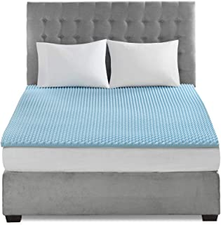 Sleep Philosophy Gel Infused Memory Foam Mattress Topper Luxurious Hypoallergenic All Season Enhanced Bed Support, Queen(1.5 Thick), Without Cover