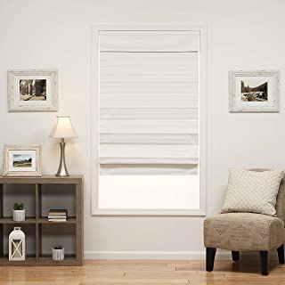 DEZ Furnishings 3QWT590720 Insulating Cordless Roman Shade, 59W x 72L Inches, White