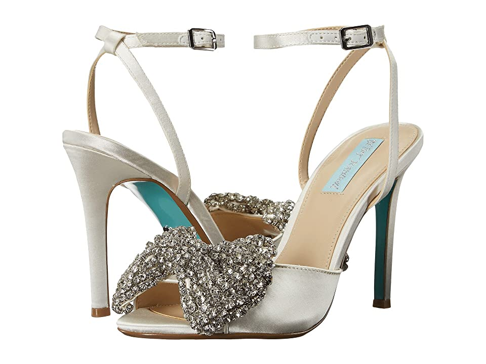 Blue by Betsey Johnson Heidi (Ivory Satin) High Heels