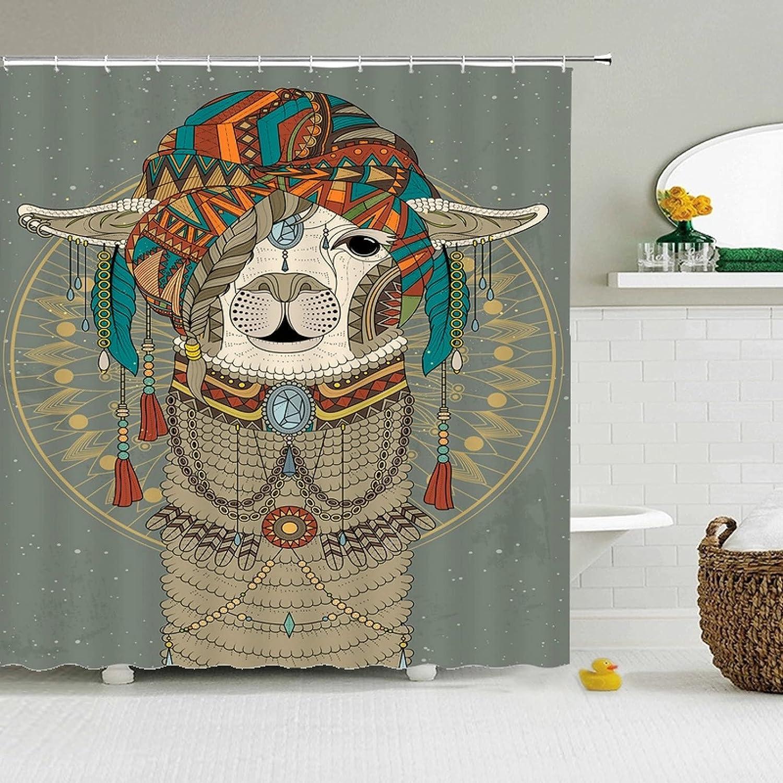 Fmiljiaty Artwork Print Colorful Shower Bath Manufacturer OFFicial shop Cheap bargain Curtain Dog