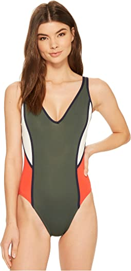 Tommy Hilfiger - Nomad Color Block V-Neck One-Piece