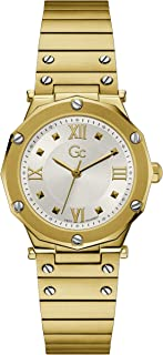 Gc Womens Quartz Watch, Analog Display And Stainless Steel Strap - Y60004L1MF