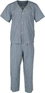 Big Men's Short Sleeve Long Leg Print Pajama Set