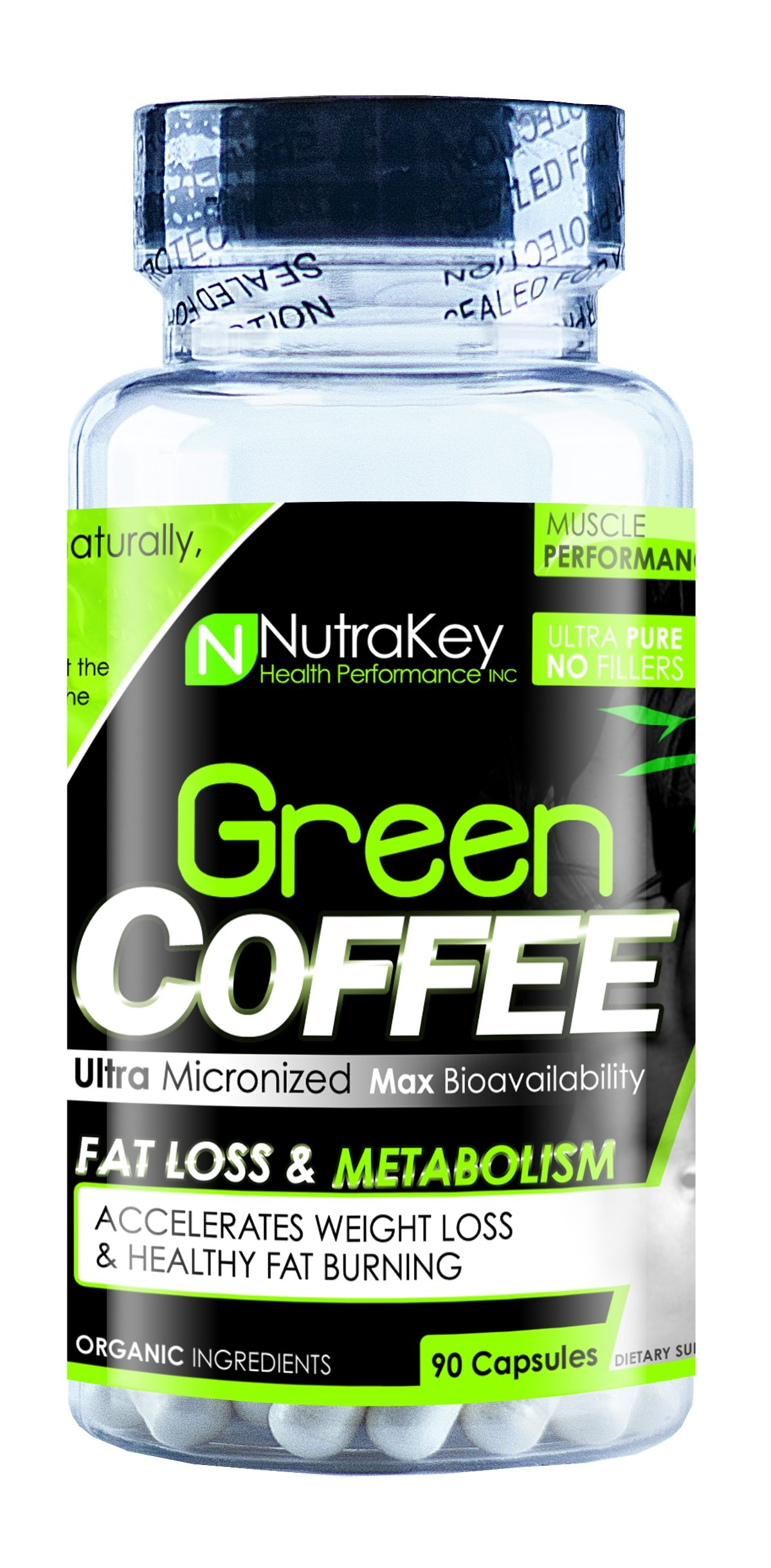 Nutrakey Green Coffee Bean Capsules 90 Count Buy Online In