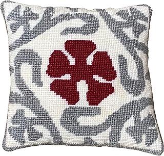 Kit de bordado para cojín   cañamazo impreso de 40cm x 40 cm   incluye lana y aguja de tapicería   Diseño Eixample   de Delicatela
