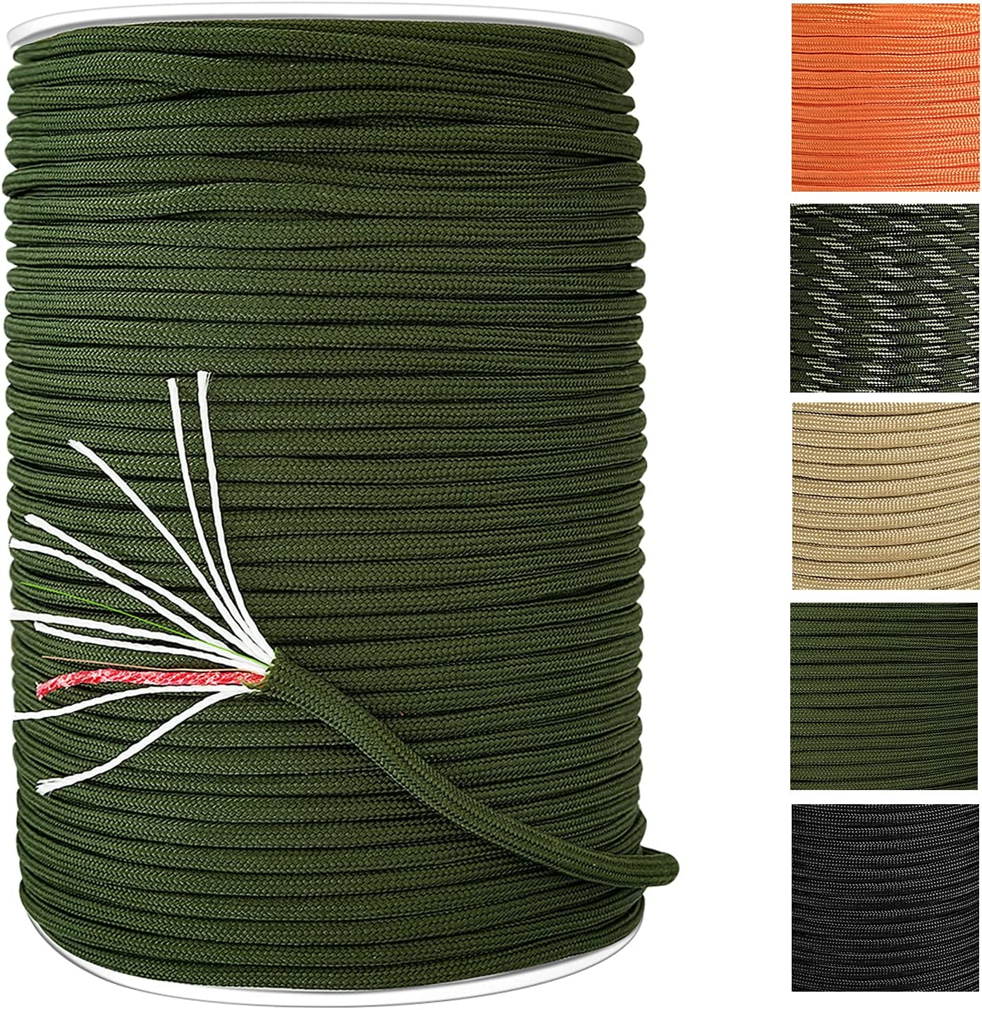 Balit 550 Survival Paracord SEAL limited Max 44% OFF product Tinder Fire Cord Spool Stra 12 330ft