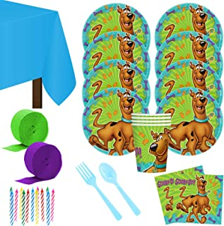Costume SuperCenter Scooby Doo Party Deluxe Tableware Kit Serves 8