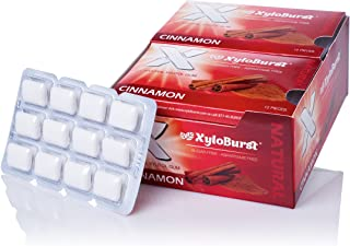 XyloBurst 100% Xylitol, Natural Chewing Gum, 12 Pack Blister Cards Non GMO, Vegan, Aspartame Free, Sugar Free, Keto Friend...