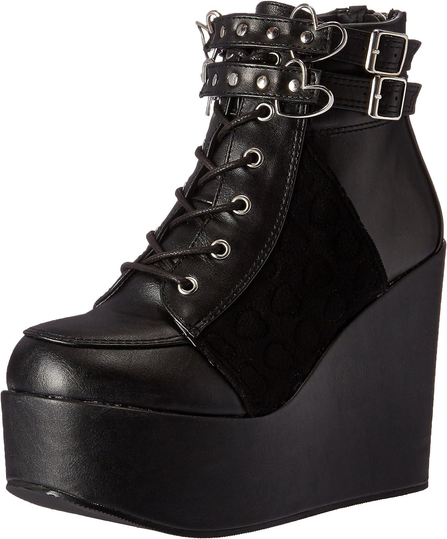 Demonia Womens Poi105 bvl-vel Ankle Bootie