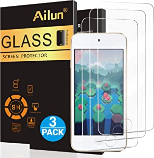 Ailun Screen Protector for iPod Touch 7 Touch 6 Touch 5 Curved Edge Tempered Glass 3Pack..