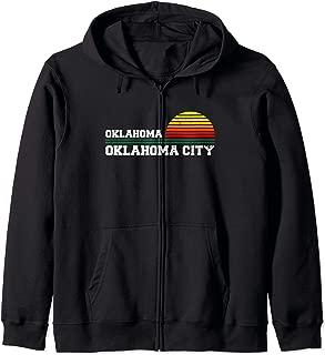 Oklahoma City, OKC Distressed OK Gift Souvenir Zip Hoodie