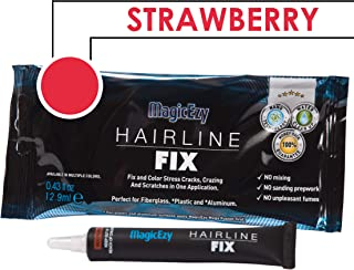 MagicEzy Hairline Fix (Strawberry) - Boat Gelcoat Crack Repair - Fills and Colors Fast