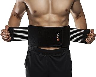 BraceUP Stabilizing Lumbar Lower Back Brace Support Belt Dual Adjustable Straps..