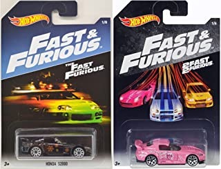 Hot Wheels Fast & Furious 2 car set of Honda S2000, In Black and Pink!