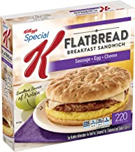 Special K, Sausage, Egg & Cheese Flatbread Breakfast Sandwiches Box, 16.39 oz (Frozen)