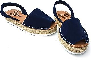 cda2fefc03f Avarca Menorquina Doble Yute - Sandalia de Plataforma Señora Mujer de  Piel/Cuero - Color
