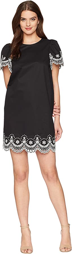 Flutter Sleeve Cutwork Dress